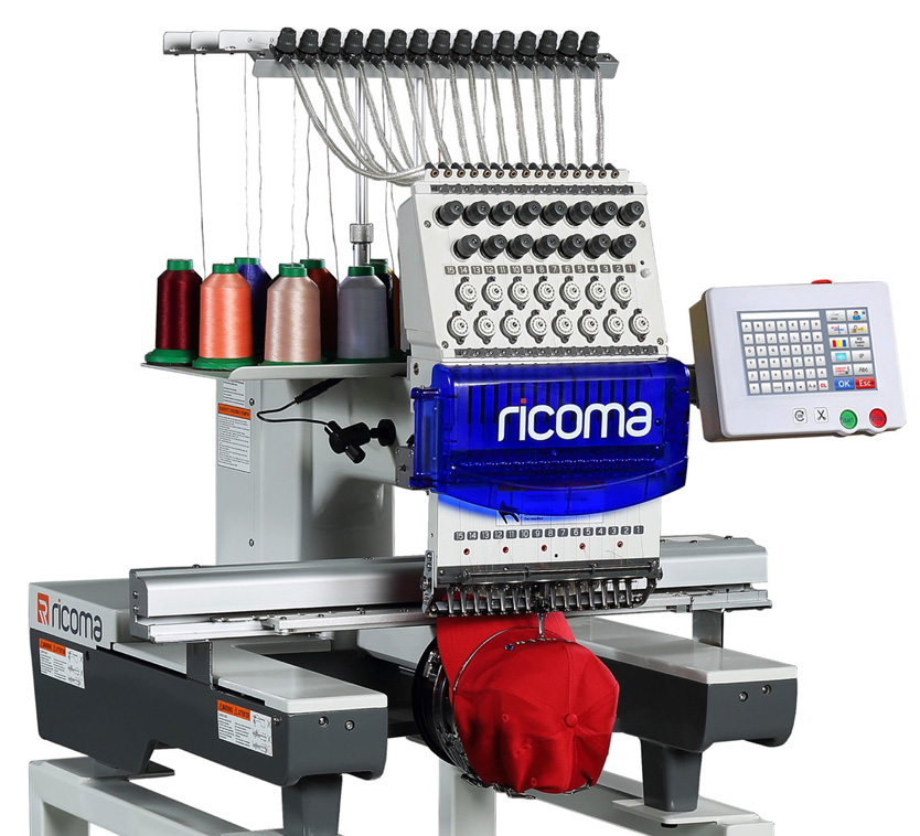 Ricoma TC Series - 7 / 8 Inch Touch Screen Embroidery Machines